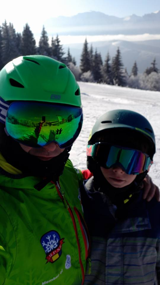Sesiune de ski cu Darius la Predeal
